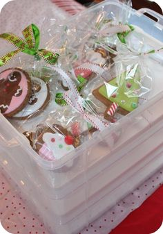 It's a cupcake carrier, but works so well for storing or transporting cookies.