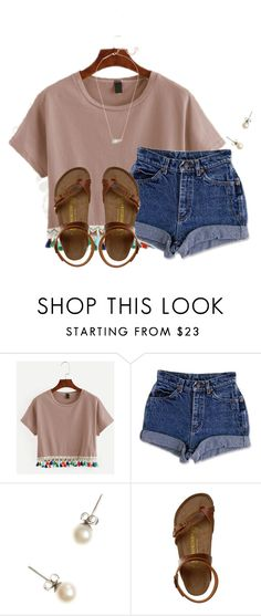 """""""~you must be wifi, cuz I feel a connection~"""" by flroasburn on Polyvore featuring WithChic, J.Crew, Birkenstock and Kendra Scott"""