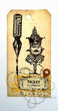 Viva Las VegaStamps!: Colonel Mustard {Tag Make n Take} by DeeDee Catron for vlvstamps.com using #rubberstamps.
