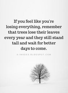Inspirational Quotes If you feel like you're losing everything, remember that trees lose their leaves every year and they still stand tall and wait for better days to come. Last Day Of The Year Quotes, Quotes About New Year, Inspiring Quotes About Life, Inspirational Quotes, Wisdom Quotes, True Quotes, Words Quotes, Quotes To Live By, Funny Quotes