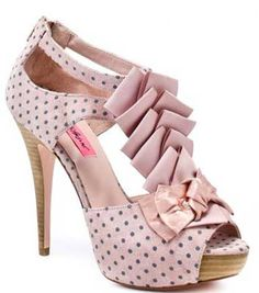 Polka dot pink    http://www.shoeperwoman.com/2011/06/betsey-johnson-iconn-pink-polka-dot-bow-peep-toes.html/betsey-johnson-pink-shoes