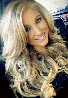 Full blonde hair & makeup