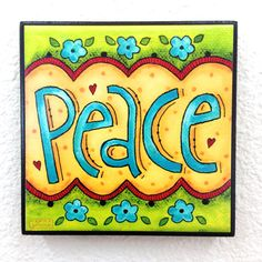 PEACE  Word Art Block Wall Decor or Stackable  by karladornacher, $8.00