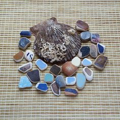 Collection of authentic sea pottery