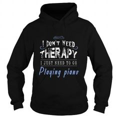 T-shirts Playing piano gift t-shirt for sport lovers Fashion Hot trend 2018