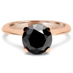 schwarzer diamantring