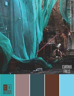 Curtain Falls | Color Blocks Design