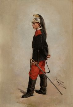 Josep Cusachs, Militar, 1881. Montpellier, Academia Militar, Historical Art, Human Emotions, Traditional Paintings, Napoleonic Wars, Military Art, Photo Art, Empire