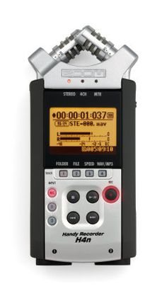 Zoom H4n Portable Digital Recorder: Capture performances, song ideas and more with this handheld 4-track recorder's built-in XY stereo microphones -- and transfer them to your computer via USB.