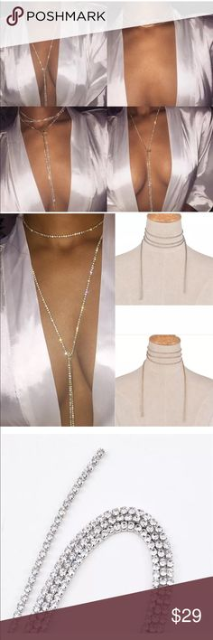 Tassel Choker Glamour Brand New Boutique Quality Absolutely Stunning Additional information provided above If you have any questions please don't hesitate to ask  Silver or Gold Plated for wear and shine longevity. Jewelry Necklaces