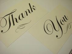 use 2 pieces of card stock to make thank you sign