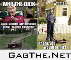 The lawn in The Walking Dead