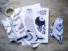 Make an Owl: Illustrated Greeting Card by KarolinSchnoor on Etsy