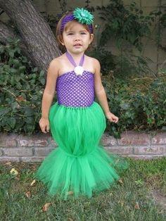 Kid taffeta mermaid costume