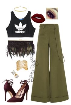 """""""Untitled #164"""" by missreddy on Polyvore featuring Rosie Assoulin, adidas, Massimo Matteo, Lime Crime, INC International Concepts, Lana and Aurélie Bidermann"""