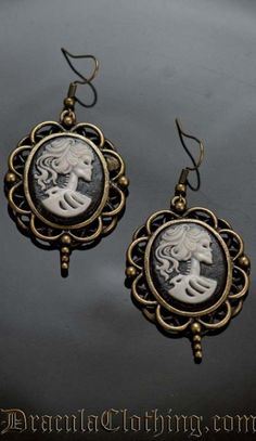 Skeleton Lady Earrings
