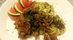 Naudanlihaa ja broccolipihvejä