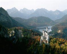 AC Neuschwanstein, the castle of Mad King Ludwig II - Bavaria, Germany