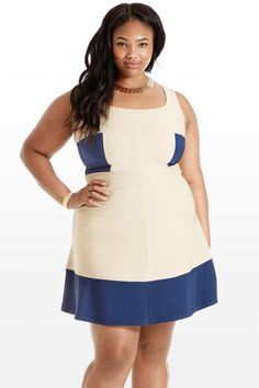 Goodie Two Blues Flare Tank Dress