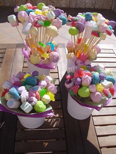 Rainbow First Birthday, Candy Centerpieces, Sweet Trees, Candy Cart, Butterfly Party, Chocolate Sweets, Ideas Para Fiestas, Candy Table, Luau Party