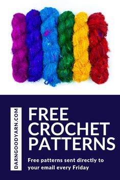 275e0dcb Each Friday, darn Good Yarn send free crochet patterns directly to your  inbox. Sign