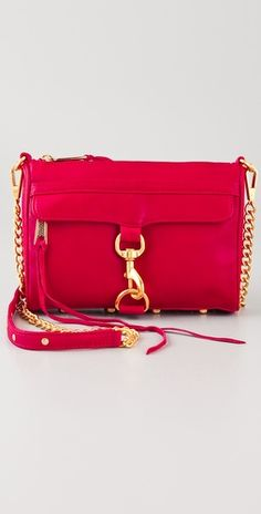 Just got this with my shopbop giftcard!!  Owww....    Bright Red Rebecca Minkoff Mini MAC bag