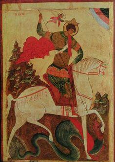 San Giorgio e il Drago. Secolo XV. Tret'jakov Gallery.