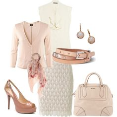 feminine pretty. Love the full outfit!