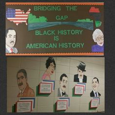 Black history month door decorating cultural competency for Black history mural