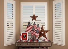 Discover Danmer, California's premier provider of custom window treatments & quality window coverings including shutters, blinds, and shades for over 30 years. Interior Shutters, Wood Shutters, Happy 4 Of July, 4th Of July, Hunter Douglas Shutters, Custom Window Treatments, Shades Blinds, Happy Memorial Day, Window Coverings