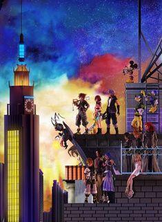 Kingdom hearts 3 boxart by GeorgePg on DeviantArt Sora Kingdom Hearts, Kingdom Hearts Funny, Kingdom Hearts Wallpaper, Heart Wallpaper, Star Citizen, Kingdom Hearts Collection, Kindom Hearts, Disney Magic Kingdom, Final Fantasy
