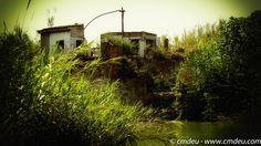 El antiguo molino visto desde el margen derecho del rio mijares casi frente a la ermita de Santa Quiteria