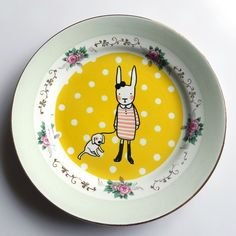 Great Craft Idea: use ceramic paint to create cool/modern designs on thrift store china
