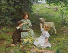 Making Daisy Chains ~ Frederick Morgan  ~ Art And Victorian Painters