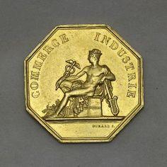 Zlatá Osmihranná Medaile Bordeaux z Doby Napoleona I. Bordeaux, Porsche Logo, Coins, Punk, Collection, Art, Art Background, Rooms, Bordeaux Wine