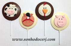 Pirulitos de chocolate decorados!!  curta nossa página no Facebook: www.facebook.com/sonhodocerj