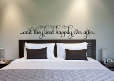 Hey, I found this really awesome Etsy listing at http://www.etsy.com/listing/163281766/bedroom-decor-and-they-lived-happily