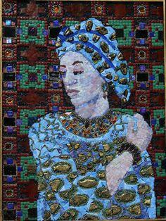 Ilona Brustad. Woman In Blue  24 x 18