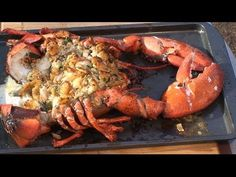 ▶ Baked Stuffed Lobster recipe by the BBQ Pit Boys - YouTube