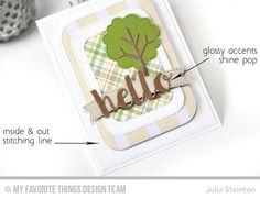 Sweet Hello Die-namics Card by Julia Stainton featuring MFT Stamps