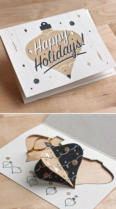 The Ornament Card | Fifty Five Hi's