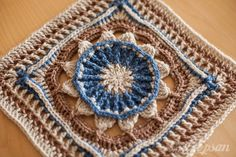 "Prince protea square 12"" (photo tutorial and pattern) by Virginia Burrow & Dedri Uys"