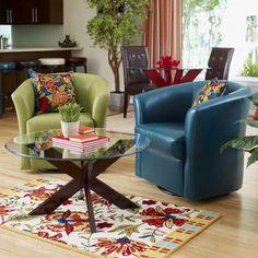 Isaac Swivel Chair - Avocado