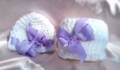 Photo Prop Baby Girl Hat and Diaper Cover Purple Bows by ThisChild, $16.99