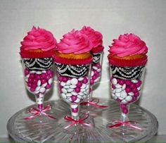 Cupcakes en copa.
