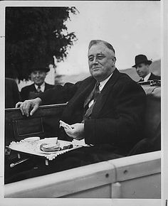 Franklin D. Roosevelt at the Grand Coulee Dam in Washington
