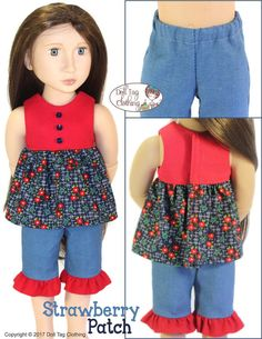 Pixie Faire Doll Tag Clothing Strawberry by PixieFairePatterns