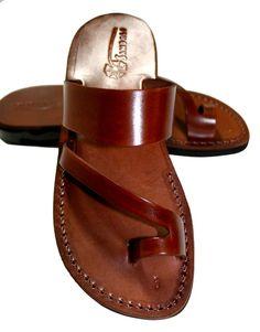 Brown Roman Leather Sandals For Men & Women - Handmade Sandals, Leather Flats, Leather Flip Flops, Unisex Sandals, Brown Leather Sandals Leather Flip Flops, Brown Leather Sandals, Leather Flats, Leather Men, Brown Flats, Pink Leather, Vintage Leather, Jesus Sandals, Shoes Sandals