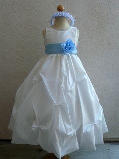 WHITE or IVORY flower girl dress more than 20 by KidsDreamsUSA, $34.99