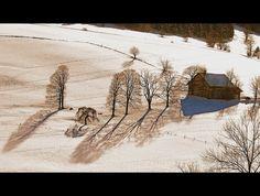 Switzerland La Chaux-de-Fonds : Winter Scenes- Sun is drawing on my snow fields.